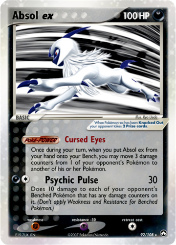 Absol ex card for EX Power Keepers