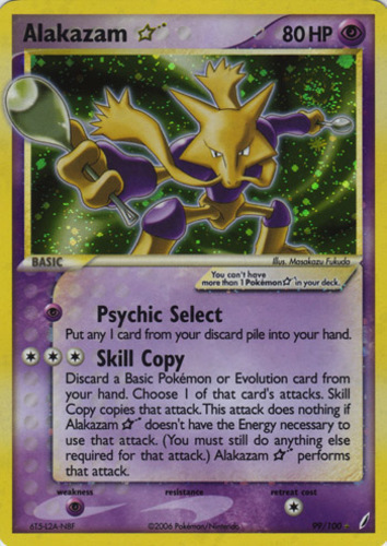 Alakazam card for EX Crystal Guardians