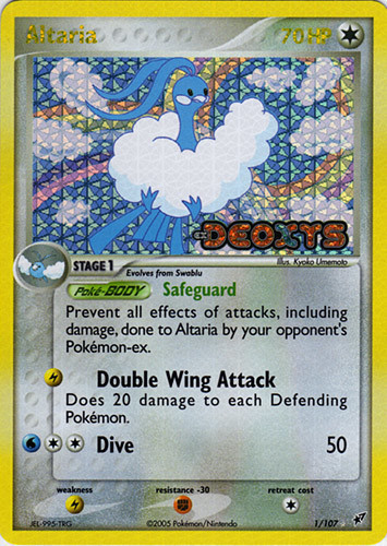 Altaria card for EX Deoxys