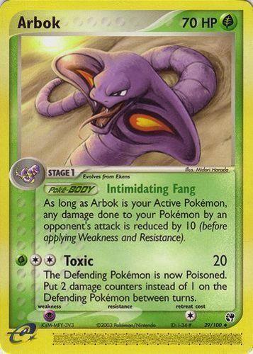 Arbok card for EX Sandstorm
