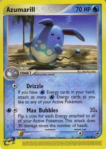 Azumarill card for EX Sandstorm