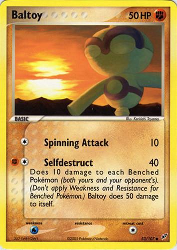 Baltoy card for EX Deoxys
