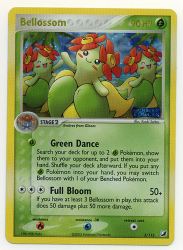 Bellossom card for EX Unseen Forces