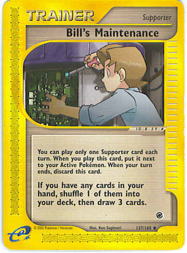 Bill's Maintenance card for EX Crystal Guardians
