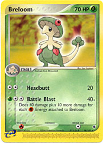Breloom card for EX Ruby & Sapphire