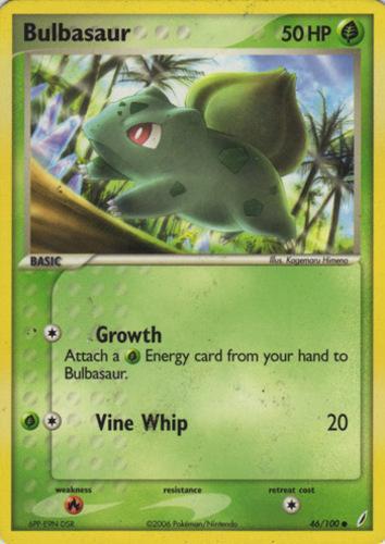 Bulbasaur card for EX Crystal Guardians