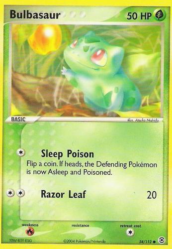 Bulbasaur card for EX FireRed & LeafGreen
