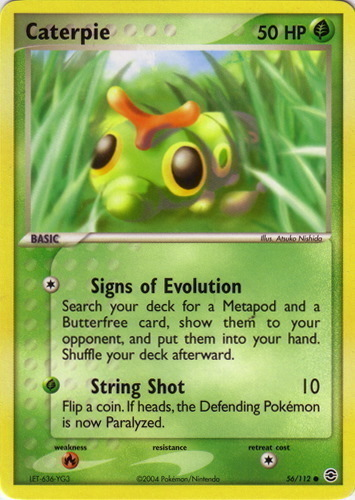 Caterpie card for EX FireRed & LeafGreen