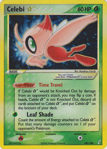 Celebi card for EX Crystal Guardians