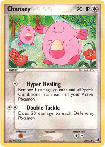 Chansey card for EX Unseen Forces