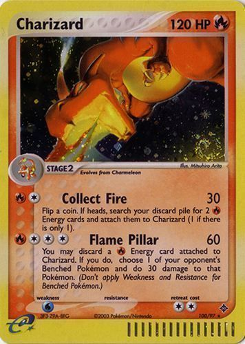 Charizard card for EX Dragon