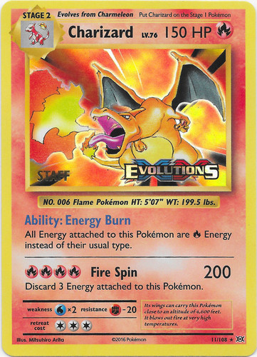 Charizard card for Evolutions