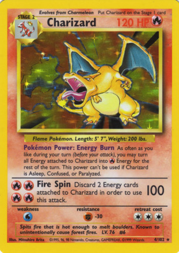 Charizard card for Legendary Collection