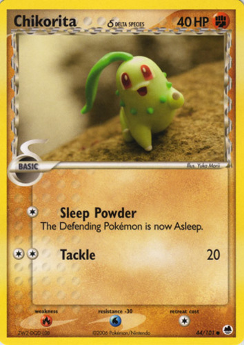 Chikorita card for EX Dragon Frontiers