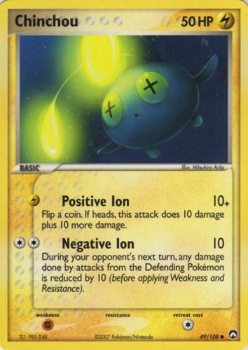 Chinchou card for EX Power Keepers