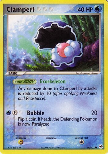 Clamperl card for EX Hidden Legends
