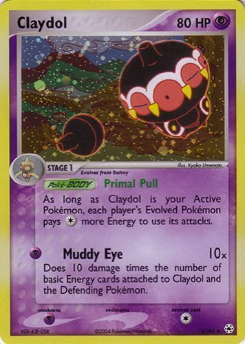 Claydol card for EX Hidden Legends
