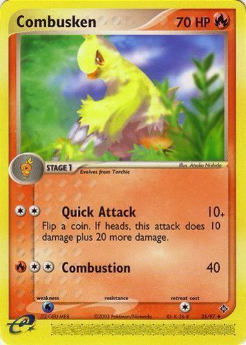 Combusken card for EX Dragon