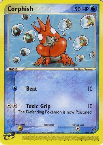 Corphish card for EX Dragon