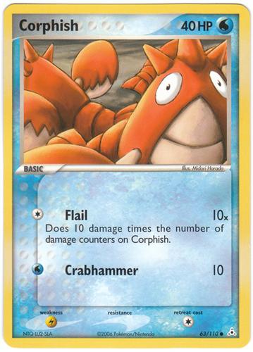 Corphish card for EX Holon Phantoms