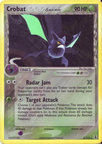Crobat card for EX Delta Species