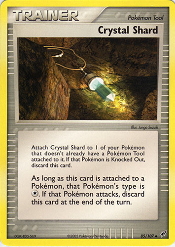 Crystal Shard card for EX Crystal Guardians