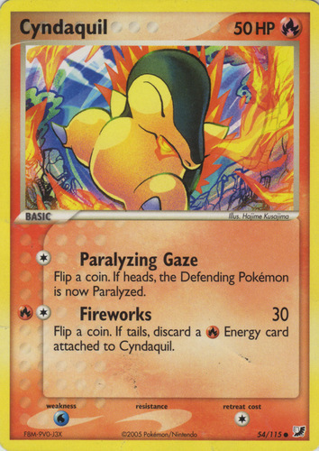 Cyndaquil card for EX Unseen Forces