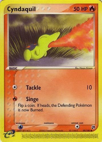 Cyndaquil card for EX Sandstorm