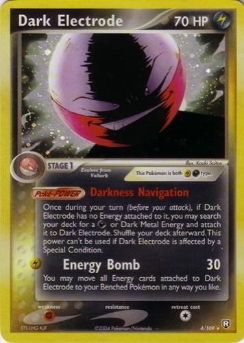 Dark Electrode card for EX Team Rocket Returns