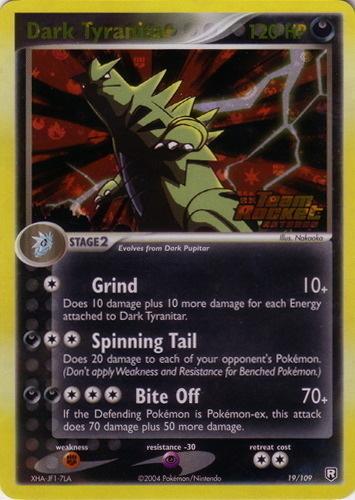 Dark Tyranitar card for EX Team Rocket Returns