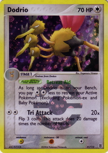 Dodrio card for EX FireRed & LeafGreen