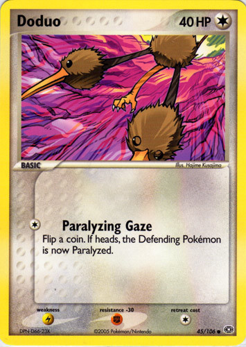 Doduo card for EX Emerald