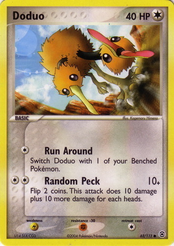 Doduo card for EX FireRed & LeafGreen