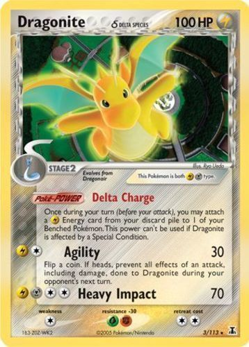 Dragonite card for EX Delta Species