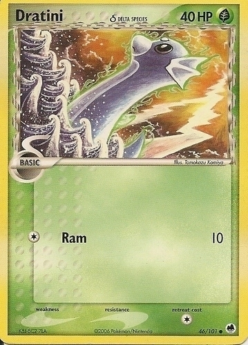 Dratini card for EX Dragon Frontiers