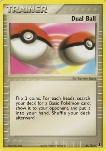 Dual Ball card for EX Delta Species