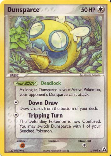 Dunsparce card for EX Legend Maker