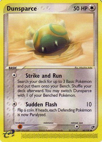 Dunsparce card for EX Sandstorm