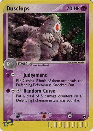 Dusclops card for EX Sandstorm