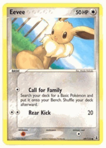 Eevee card for EX Delta Species