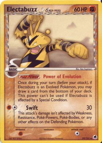 Electabuzz card for EX Dragon Frontiers