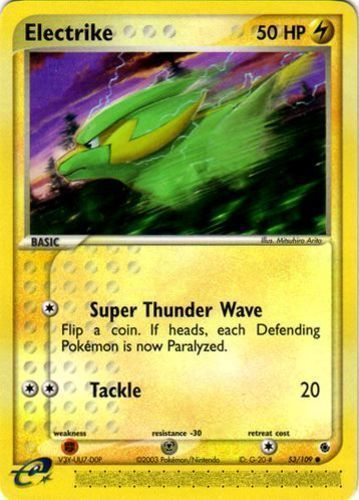 Electrike card for EX Ruby & Sapphire