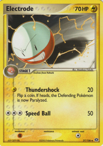 Electrode card for EX Emerald