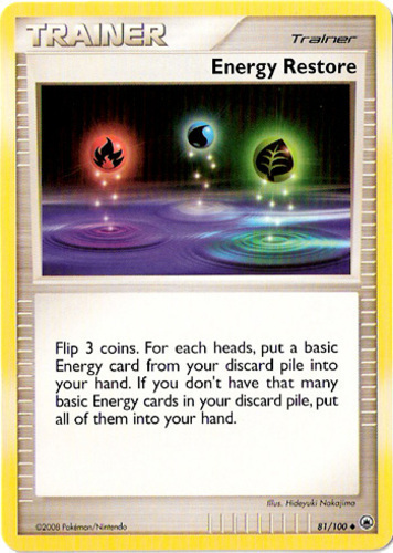 Energy Restore card for EX Ruby & Sapphire