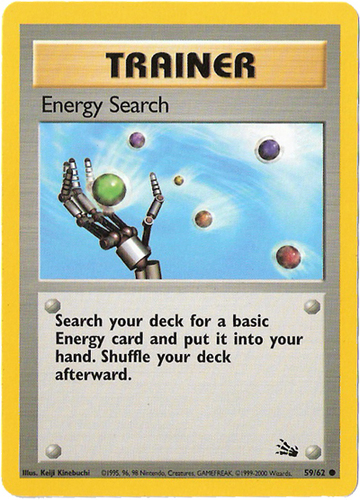 Energy Search card for EX Crystal Guardians