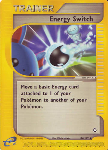 Energy Switch card for EX Ruby & Sapphire