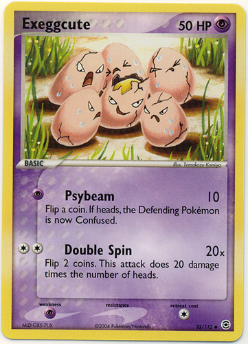 Exeggcute card for EX FireRed & LeafGreen