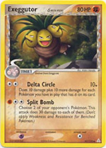 Exeggutor card for EX Holon Phantoms