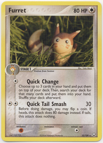 Furret card for EX Team Rocket Returns