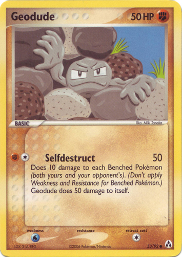 Geodude card for EX Legend Maker